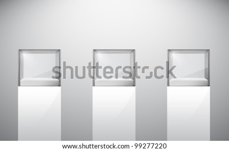 empty vector glass cubes