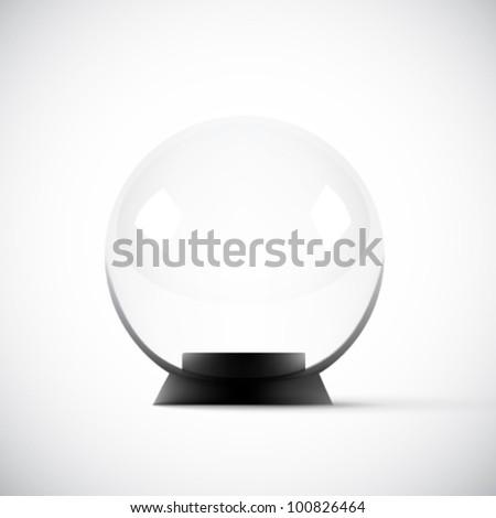 empty vector glass sphere