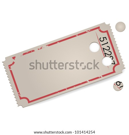 Empty vector vintage ticket - space for text