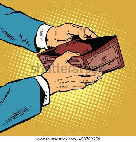 empty wallet  no money pop art...