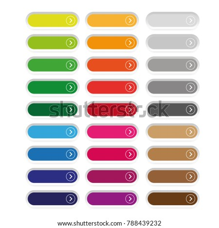 Empty web button set vector isolated
