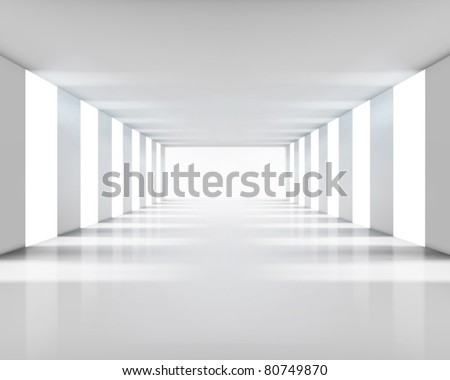 Shutterstock Empty white interior. Vector illustration.