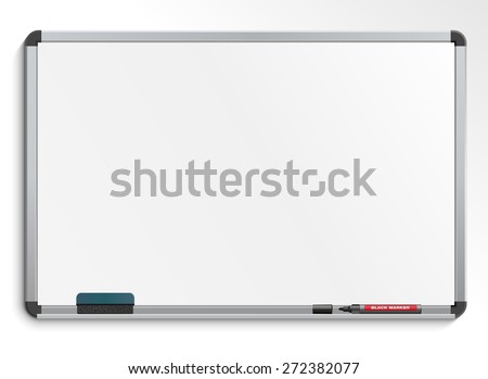 empty white marker board.