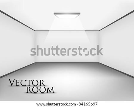 empty white room for your