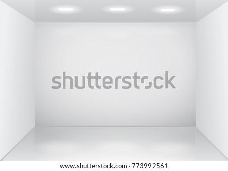 empty white room interior