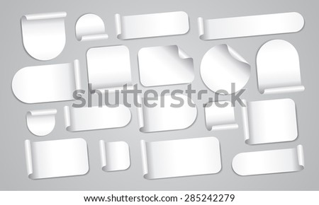 Empty white stickers mega set #285242279