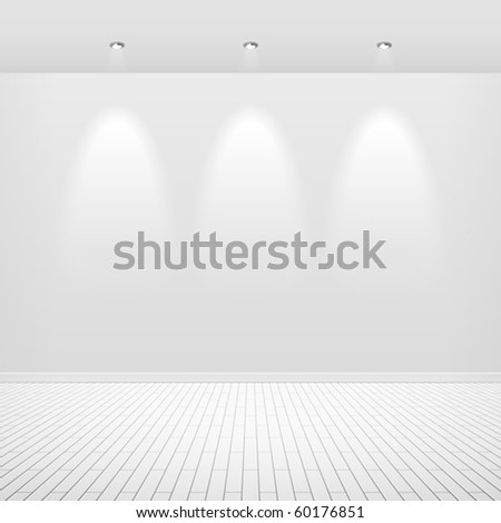 empty white wall vector