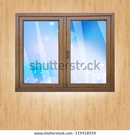 empty window with sky