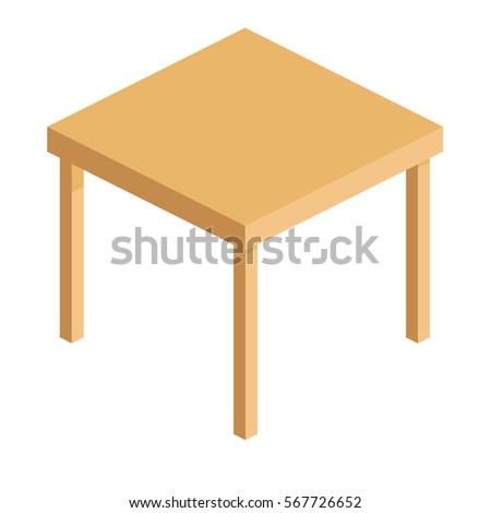 empty wooden square table for