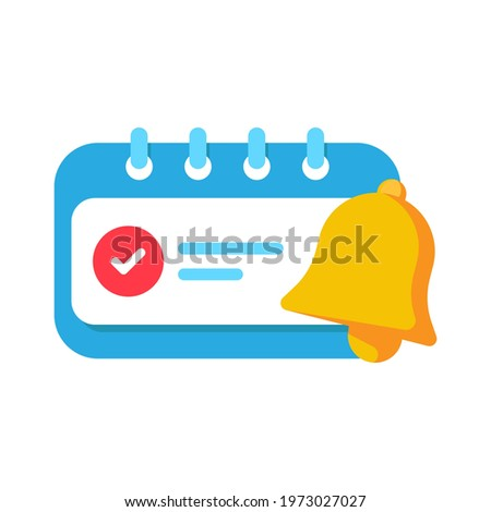 enable reminder notification permission pop up button concept illustration flat design vector eps10. modern graphic element for landing page, empty state ui, infographic, icon, etc Stock foto ©