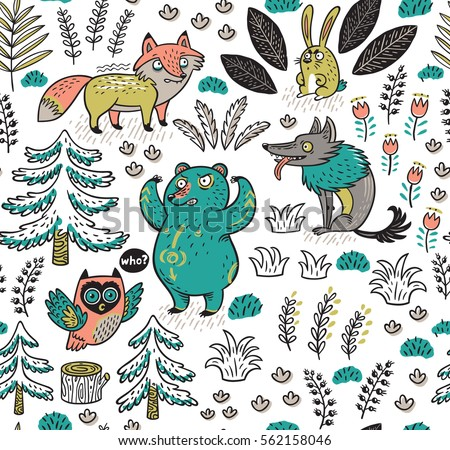 enchanted forest vector