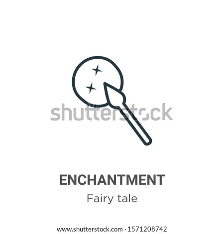 enchantment outline vector icon
