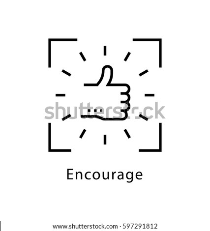 Encourage Vector Line Icon