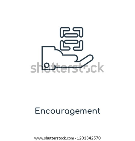 Encouragement concept line icon. Linear Encouragement concept outline symbol design. This simple element illustration can be used for web and mobile UI/UX.