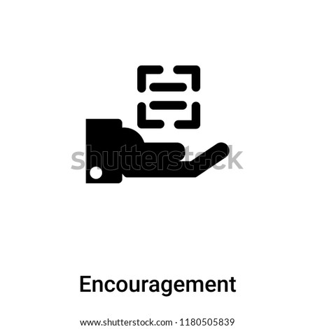 Encouragement icon vector isolated on white background, logo concept of Encouragement sign on transparent background, filled black symbol