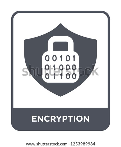 encryption icon vector on white background, encryption trendy filled icons from Gdpr collection, encryption simple element illustration