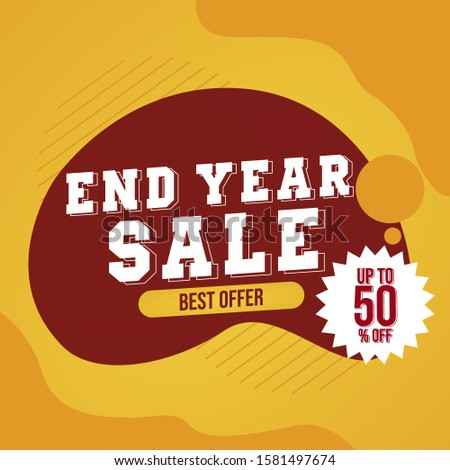 End Year Sale, Special Price. Special Offer, 50% off, Discount