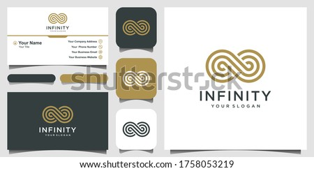 endless infinity loop with line