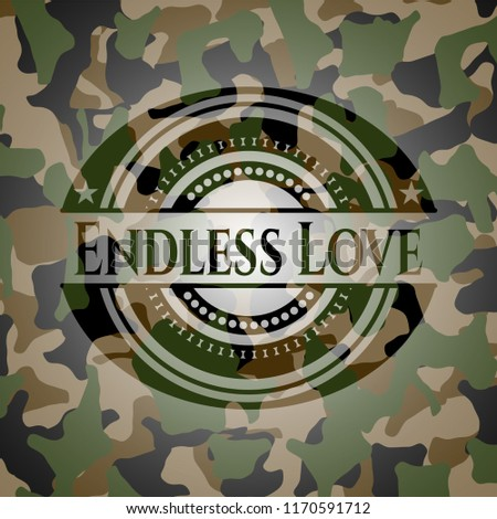 endless love on camo texture