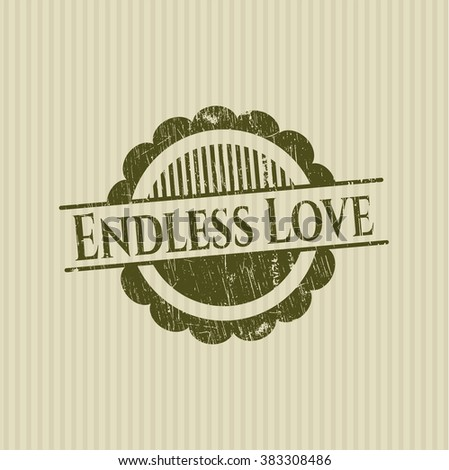 Endless Love rubber grunge texture stamp