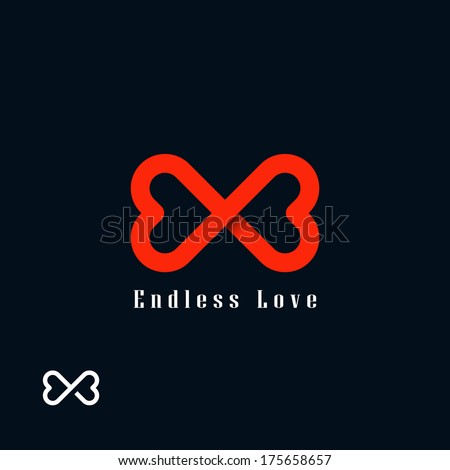 endless love symbol two hearts