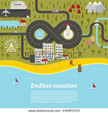 endless vacation vector