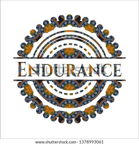 Endurance arabesque emblem. arabic decoration.