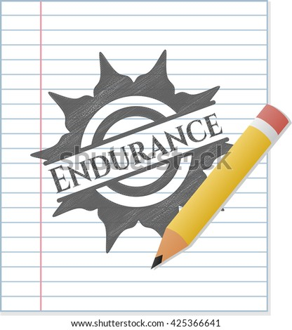 Endurance draw with pencil effect