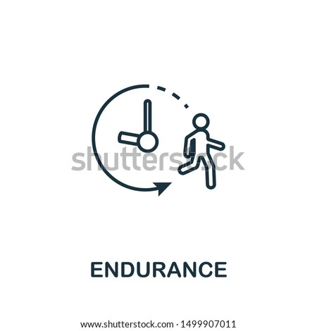 Endurance icon. Thin outline style design from fitness icons collection. Creative Endurance icon for web design, apps, software, print usage.