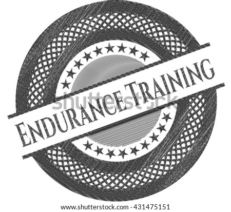 Endurance Training pencil strokes emblem