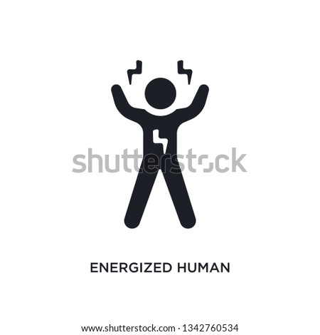 energized human isolated icon. simple element illustration from feelings concept icons. Foto stock ©