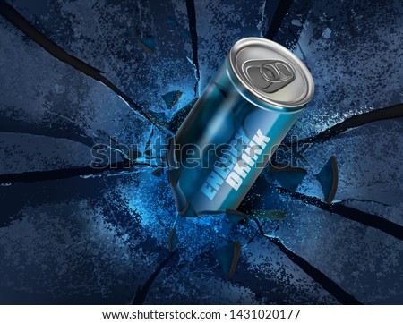 energy drink canned on