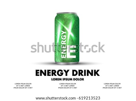 energy drink isolated on white