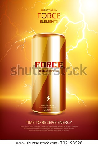 Energy Drink Metal Can Poster