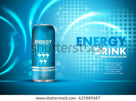 energy drink on sparkly and