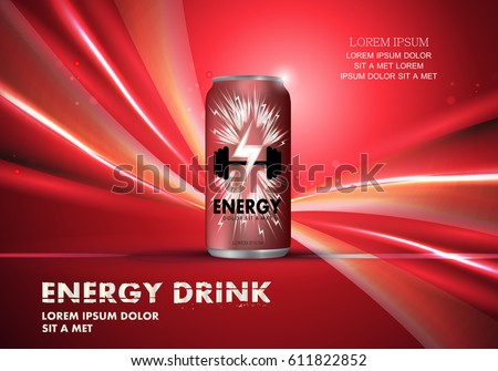 energy drink on wavy backdrop