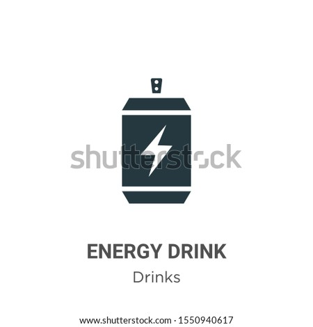 Energy drink vector icon on white background. Flat vector energy drink icon symbol sign from modern drinks collection for mobile concept and web apps design.