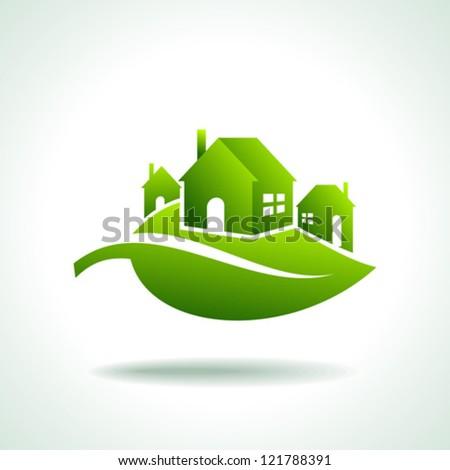 energy eco icon with house