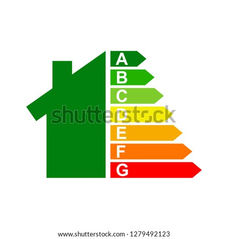 energy efficiency chart and house concept eps 8 vector