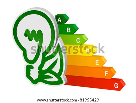 Energy efficiency graph for ecology and environment design. Rasterized version also available in gallery