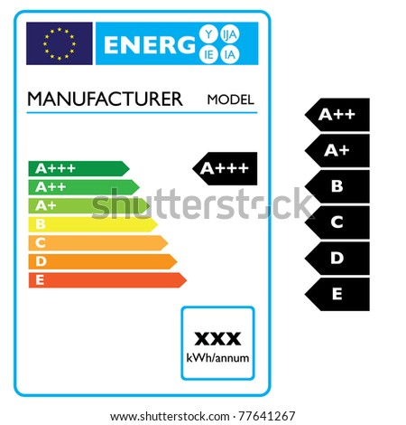 energy efficiency label from electric appliance - illustration