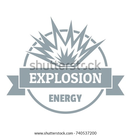Energy explosion logo. Simple illustration of energy explosion vector logo for web