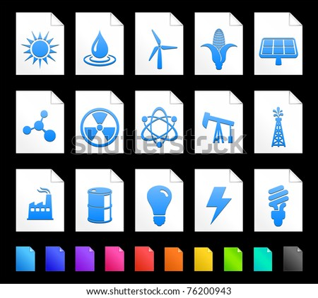 Energy Icon on Document Icon Collection Original Illustration