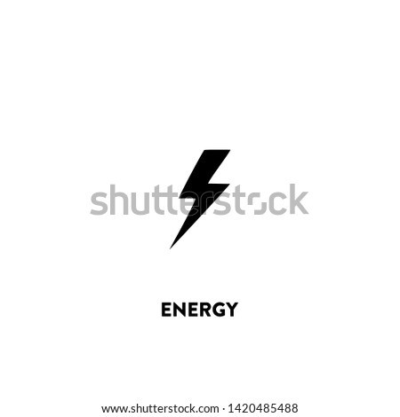 energy icon vector. energy sign on white background. energy icon for web and app