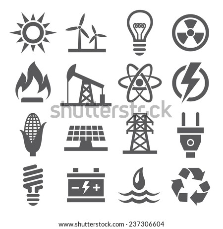 Shutterstock Energy icons