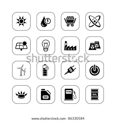 Energy icons - BW series