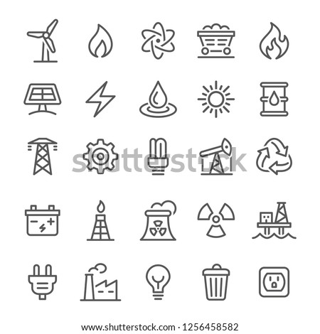 Energy Icons - Vector Line Series