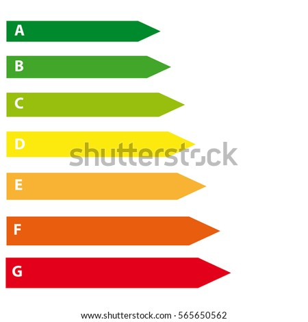 Energy labels on white background. Vector illustration