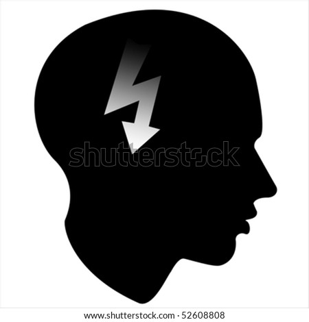 energy  of the human mind Isolated over background and groups, vector illustration