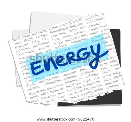 ENERGY on vector paper notes background - others: http://www.shutterstock.com/lightboxes.mhtml?lightbox_id=796342